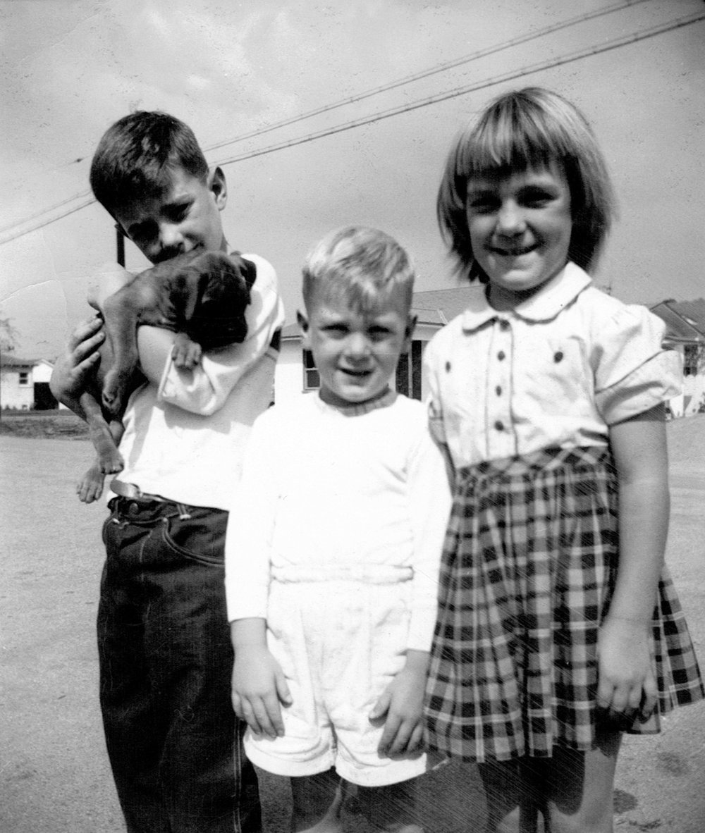 Willie, Jerry, and Dorothea, 1950s.