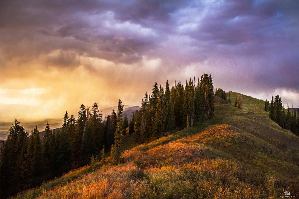 'Ridge-Line Sunset'