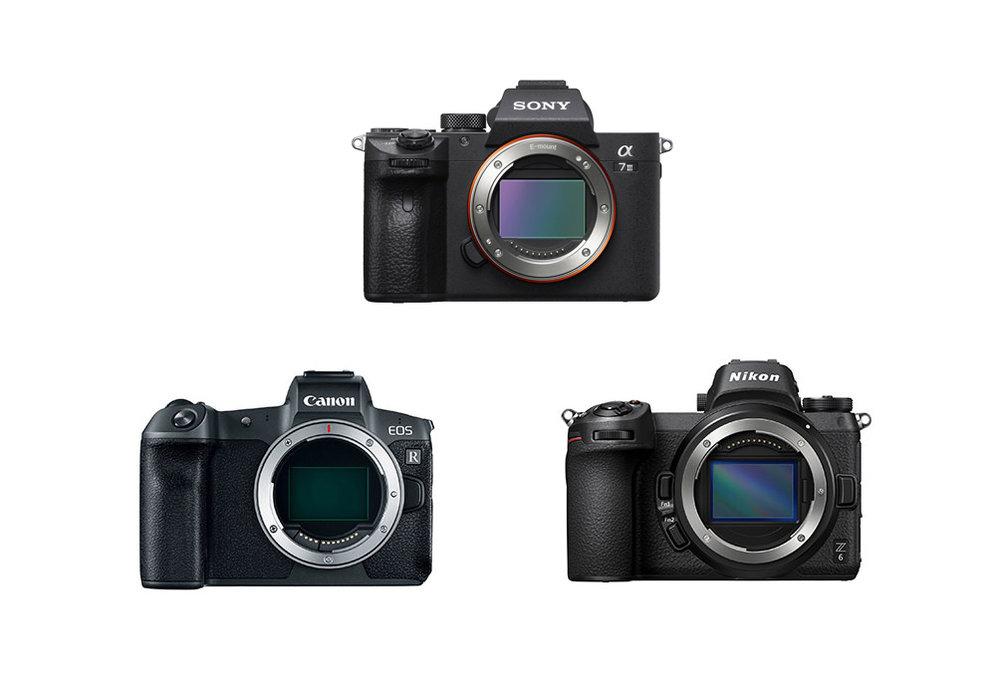 Sony A7iii, Canon EOS R, Nikon Z6