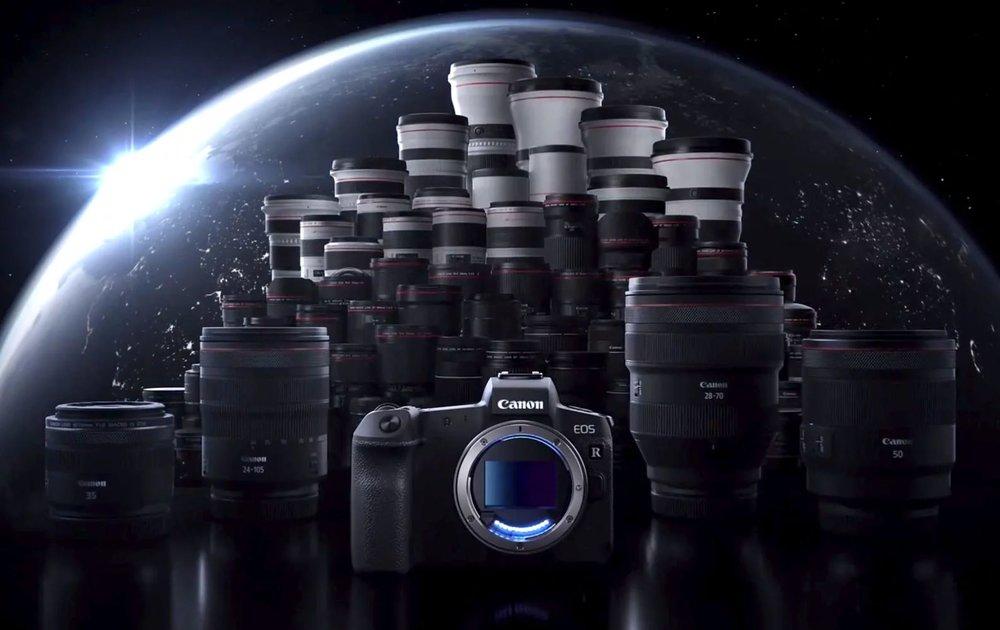 Canon EOS R full lineup 2018