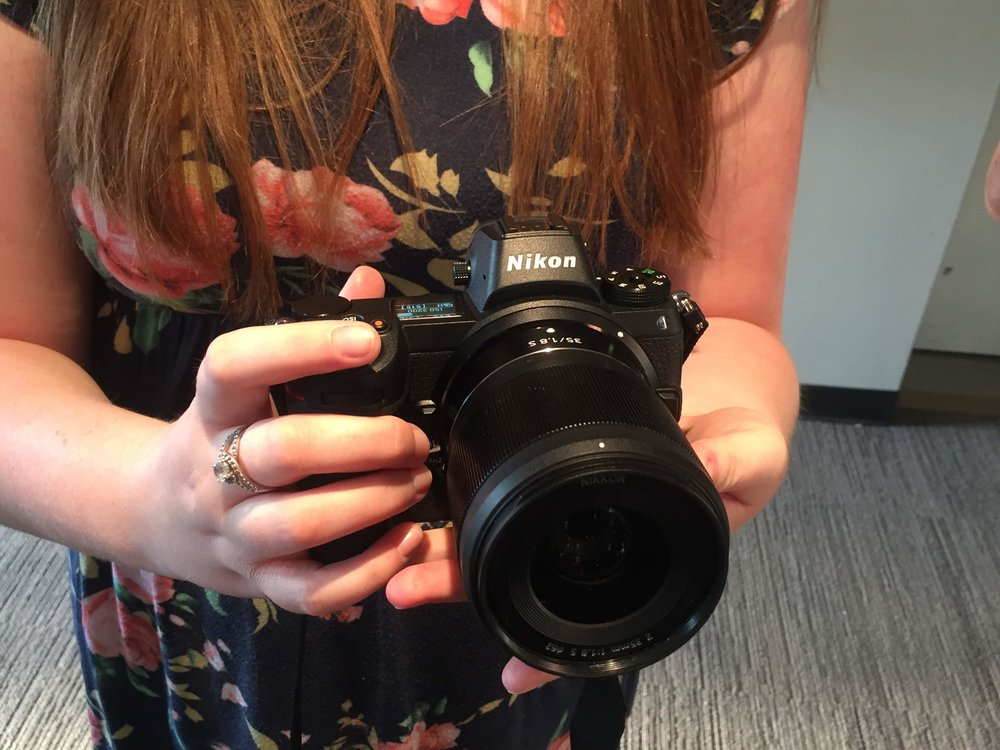 Annie and I got an early hands on with the Nikon Z7 mirrorless camera. It was the best feeling camera I have ever held in my hands.