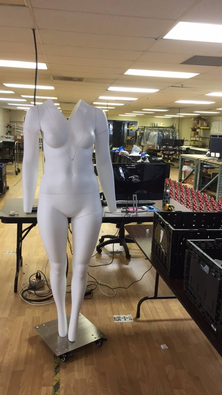 One of our Mannequins. We are beginning to implement the use of more mannequins to showcase a more natural fit to the clothing.