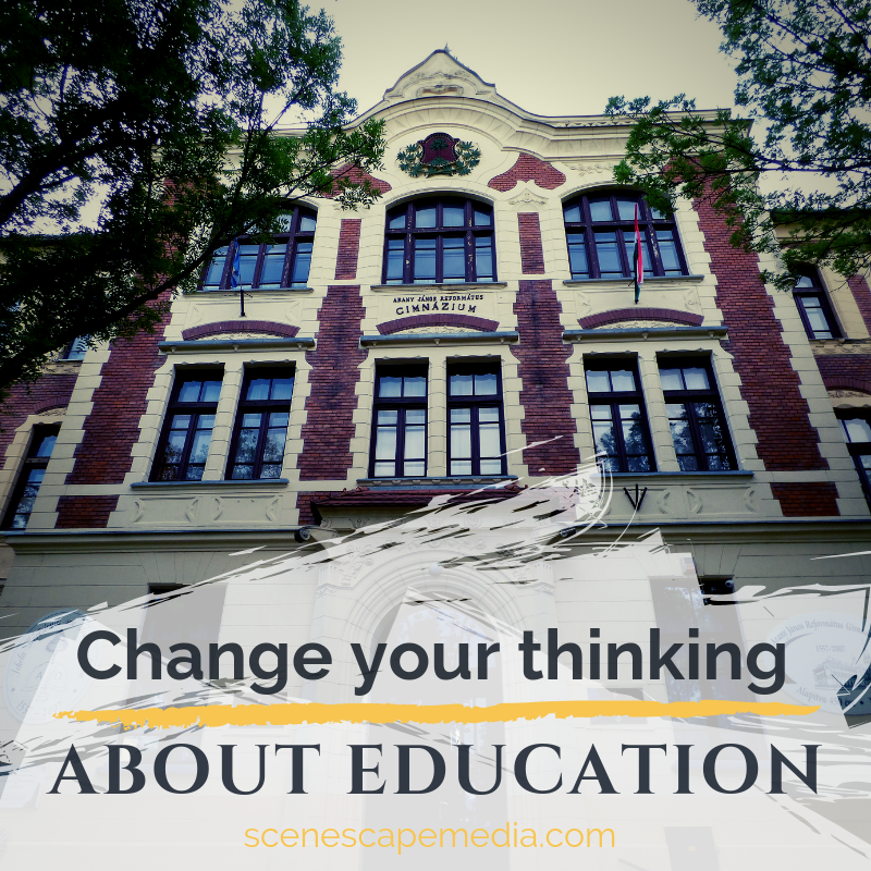 To break free from institutionalized thinking, we have to rethink education.