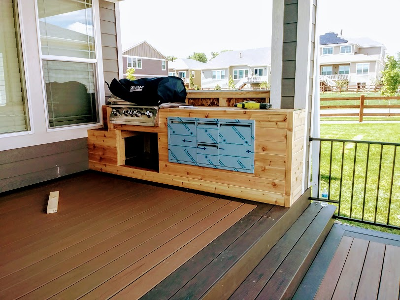 Custom Grill added to deck area