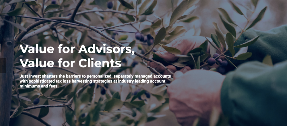 Just Invest offers services for financial advisors who are looking to sustainable investing offerings to their clients.