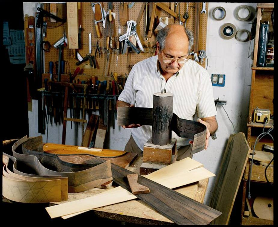 Manuel Rodriguez II in his workshop
