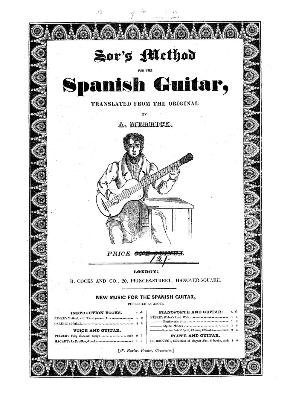 Dionisio Aguado - New Guitar Method