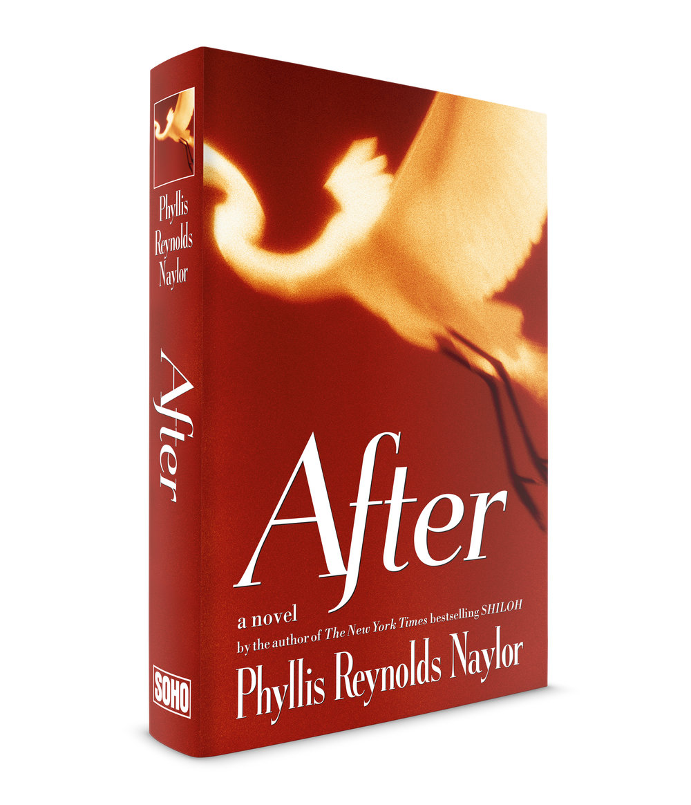 "After, a novel by Phyllis Reynolds Naylor, published by Soho Press. This was a tricky jacket to do. The photograph of a bird in flight by Rosalie Winard, was a given. I had to use it. It was a black and white image. I immediately set about to colorize it with some red quadtone imaging. It looked good. I then could really only contribute an appealing typographic treatment. I turned to the inimitable Dennis Ortiz-lopez for some type recommendations. He had a rather unusual italic rendition of the Egmont typeface. That ""f"" is not typically what it would look like (for verification of my claim, please consult with either  Tobias Frere-Jones  or  Jonathan Hoefler ) I think they would stand by me (Oh God what have I gotten myself into?!) The client and the author liked the jacket. Mission accomplished!"