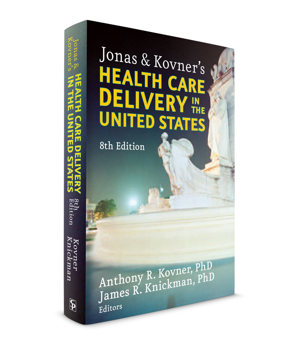 Health Care Delivery in the United States, published by Springer publishers. I got a call one day in my studio from the president of Springer publishers; the US company (part of the German company I believe). She had seen one of the books I designed and liked the typography. You don't get calls like that very often. She had a problem with her books but didn't know what it was and wanted me to look at them and talk to her about it. I sent over there and looked at some books. The margins were very tight, about a quarter of an inch, all over; the gutters, the margins, even the space between the book title at the top of the page and the text. They were large books, over a thousand pages. The type was all about the same size, even the chapter titles were small. You got tired of reading it after 5 minutes. I told her we need to first open up the margins a little bit and use more versatile type families; ones with display and text sizes, small caps and semi-bold, bold, etc. She liked what I said so she hired my studio to design about 10 books. Big, 1000 page tomes filled with charts and tables. This one was the first. We decided to go with 2 colors inside to help separate the myriad typographic and infographic needs. We made the charts nice and big. It was very well received.  Josh Klenert  and  Andree Kahlmorgan were the designers who worked with me on this one. We used the entire Eureka typeface family for this; sans serif and serif versions, designed by Peter Bi'lak. Over a thousand pages. Over a hundred charts, graphs and tables.