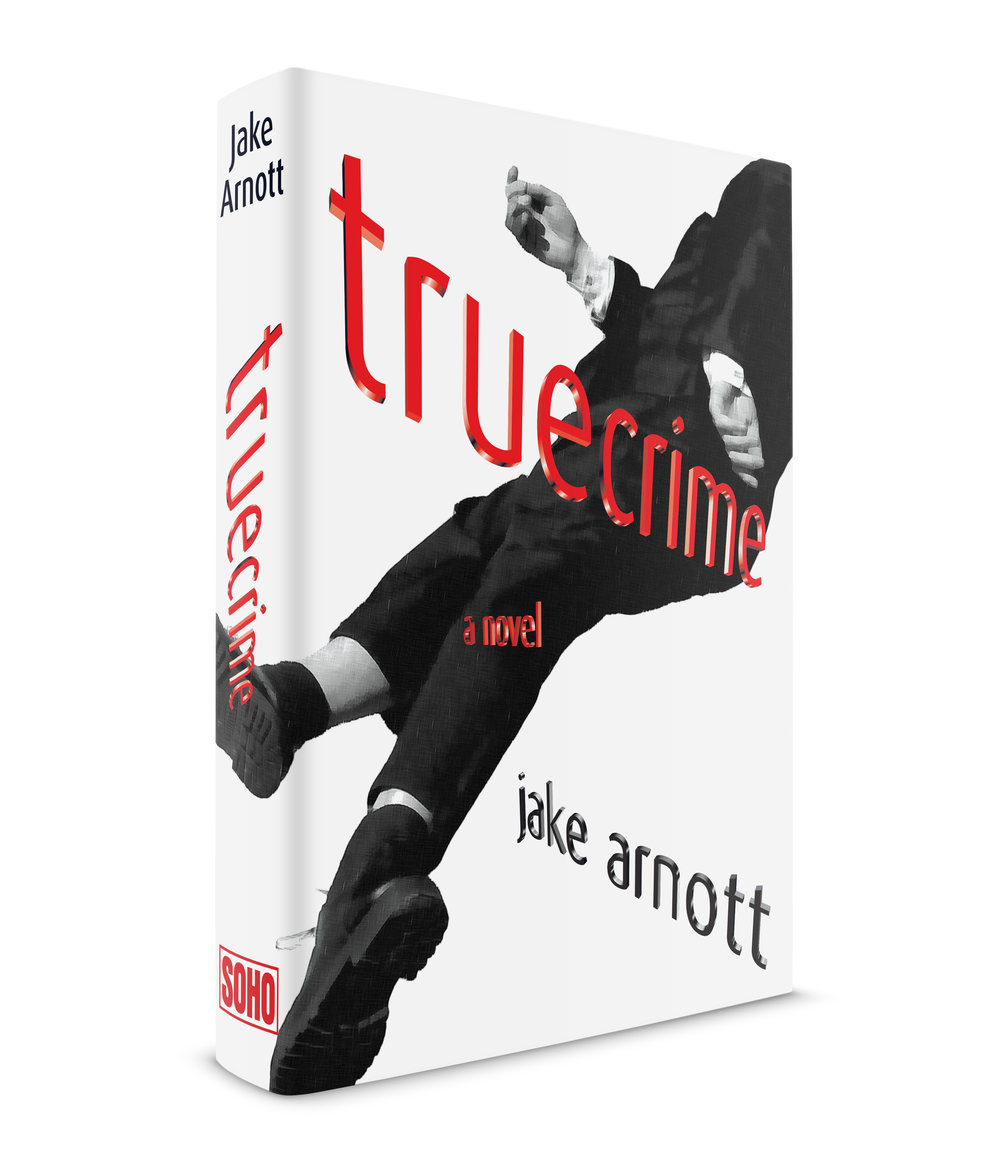 truecrime is a gangster novel by Jake Arnott, a British author, published in NYC by Soho Press. Soho had purchased the rights to three of Jake's books and I was slated to design the jackets for all of them, a magnificent project. I liked Jake's work a lot. Apparently David Bowie also did because he wrote a blurb for the jacket. I had an idea to use a Robert Longo drawing from his, Men in the City, series, but when I called his gallery and told them my budget they practically hung up on me. So I asked my friend, the great illustrator,  Steven Salerno  to dress up in classic gangster garb and pose for dead gangster images. We both went up to the roof of my studio on the coldest day that winter, 15ºF, and played dead. Every single picture was a winner, over a hundred of them. Something about the morbid nature of the subject matter must have appealed to us. The final jacket was warmly received by Soho's brilliant publisher,  Juris Jurjevics . Typeface family was Dax by Hans Reichl.