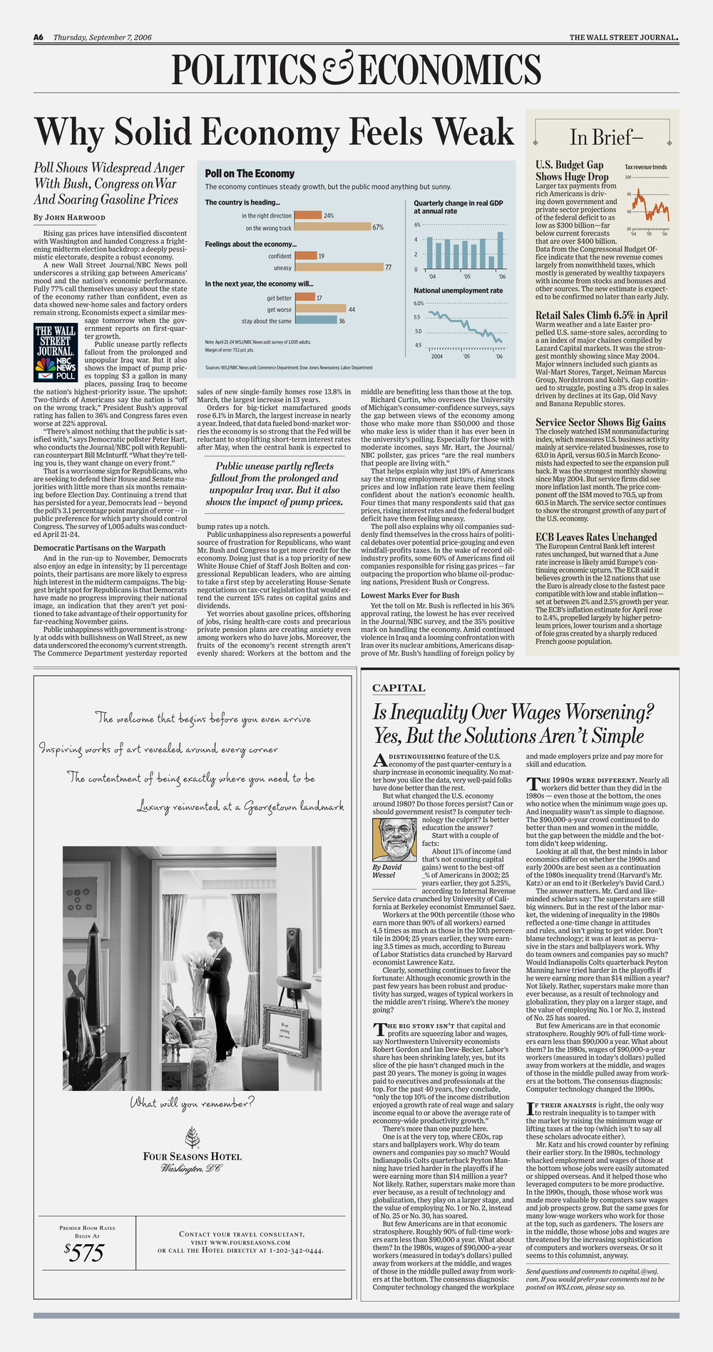 The Wall Street Journal redesign. Published by Dow Jones.
