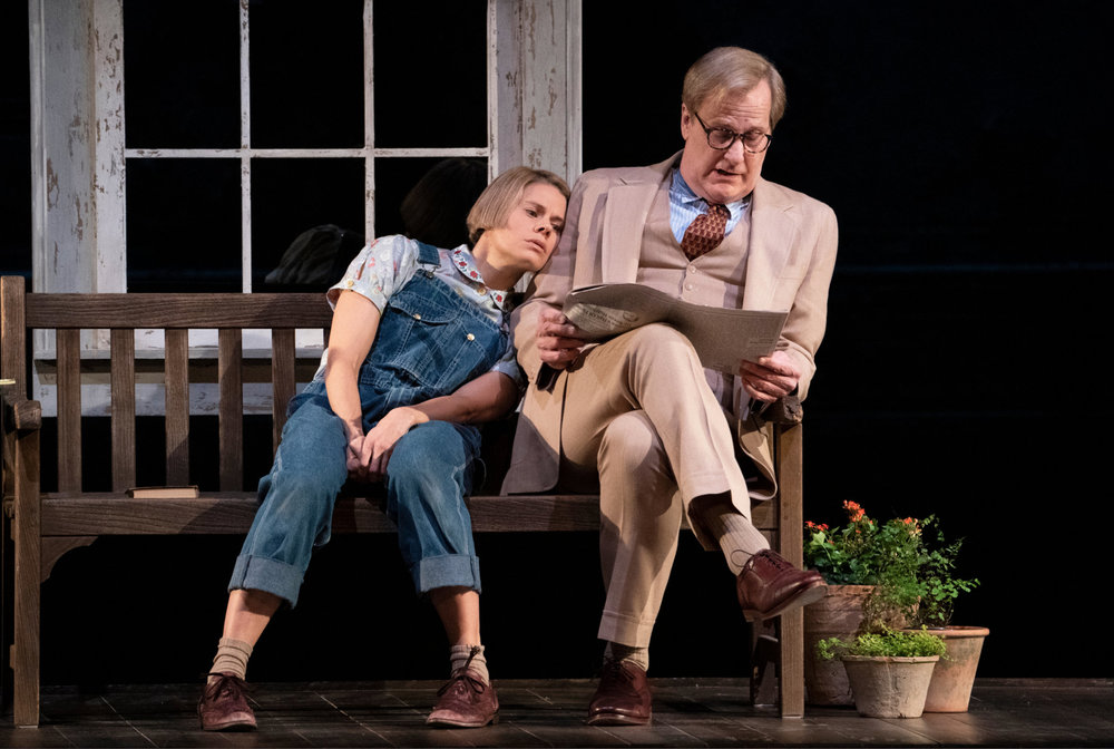 "Jeff Daniels holds the newspaper I designed for the new Broadway production of, To Kill a Mockingbird. The New York Times reviewed it very favorably even though they did not even mention the great props!!  Ross MacDonald  designed all the other props in the play.  Celia Keenan-Bolger, left, as Scout and Jeff Daniels as her father, Atticus Finch, in Aaron Sorkin's adaptation of ""To Kill a Mockingbird."" Photo: Sara Krulwich/The New York Times"