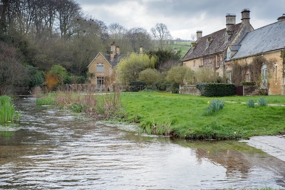 rural photo of lower slaughter cotswolds gloucestershire