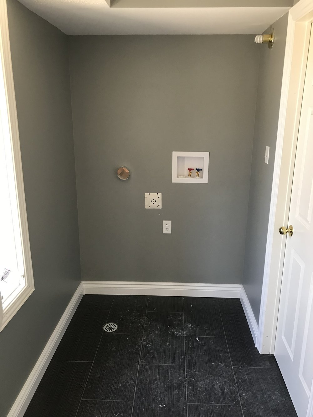main floor laundry conversion