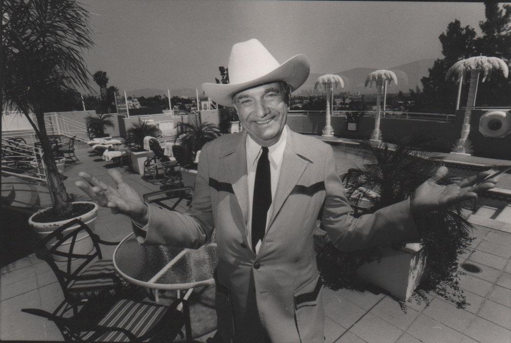 "Cal Worthington   Calvin Coolidge ""Cal"" Worthington on the Sunset Strip.Photograph taken on May 12,2004."