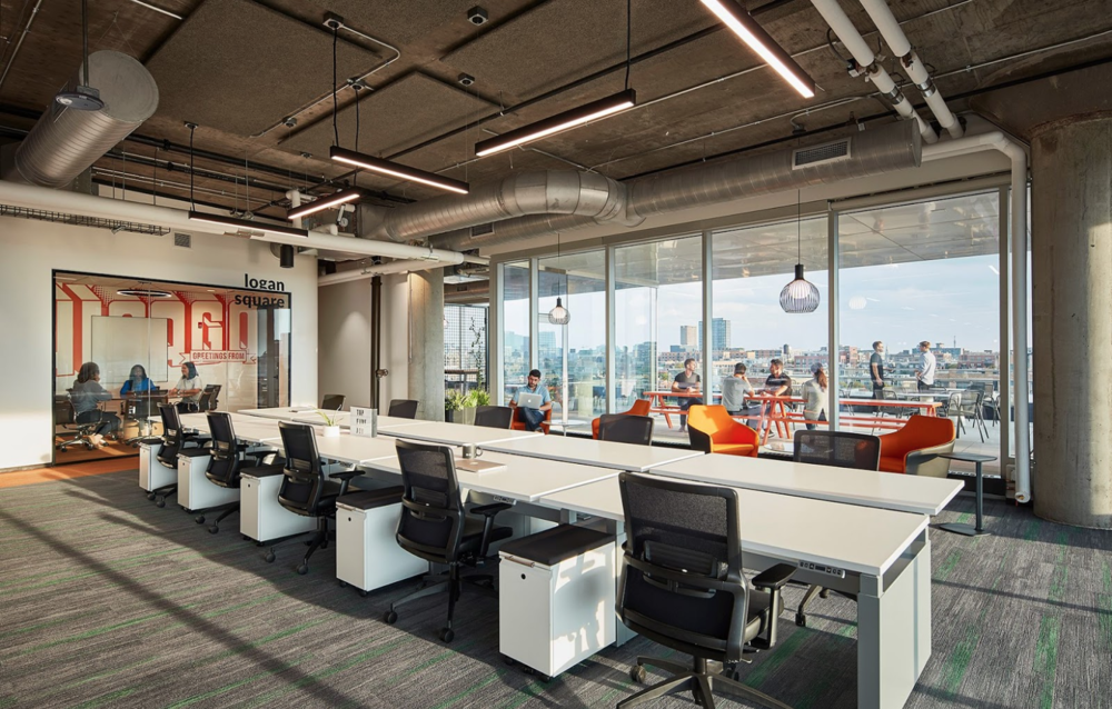 Glassdoor's new Fulton Market office in Chicago. Facebook/SitOnIt Seating