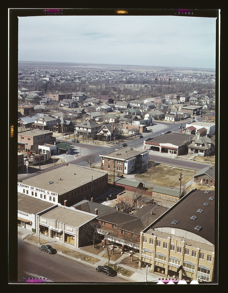 Looking west from the Santa Fe Building, 1943.jpg