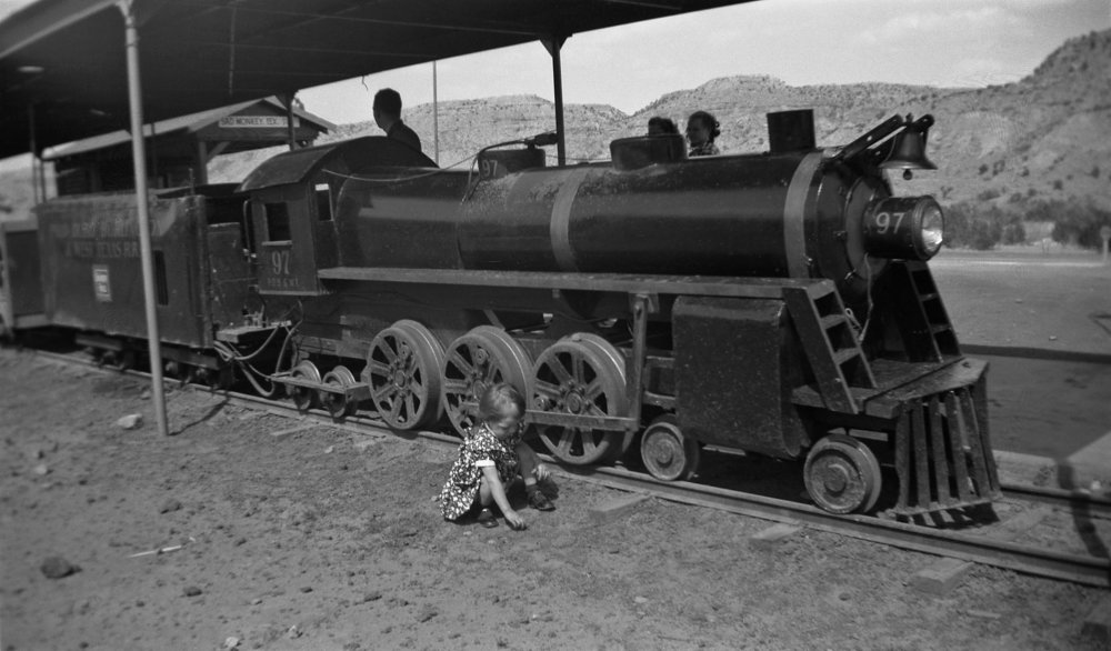 Janice at Palo Duro Canyon on April 5, 1954.  Photo by C Simpson .