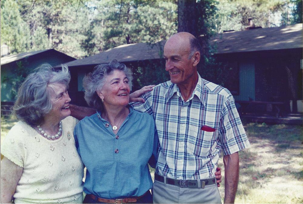 Nan, Tash and Lal at Granny Ruth's house