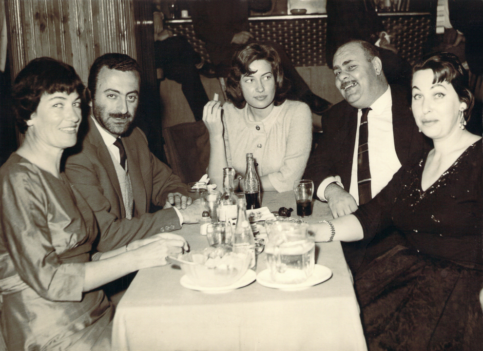 Tash with director George Nasser, Lisa et al