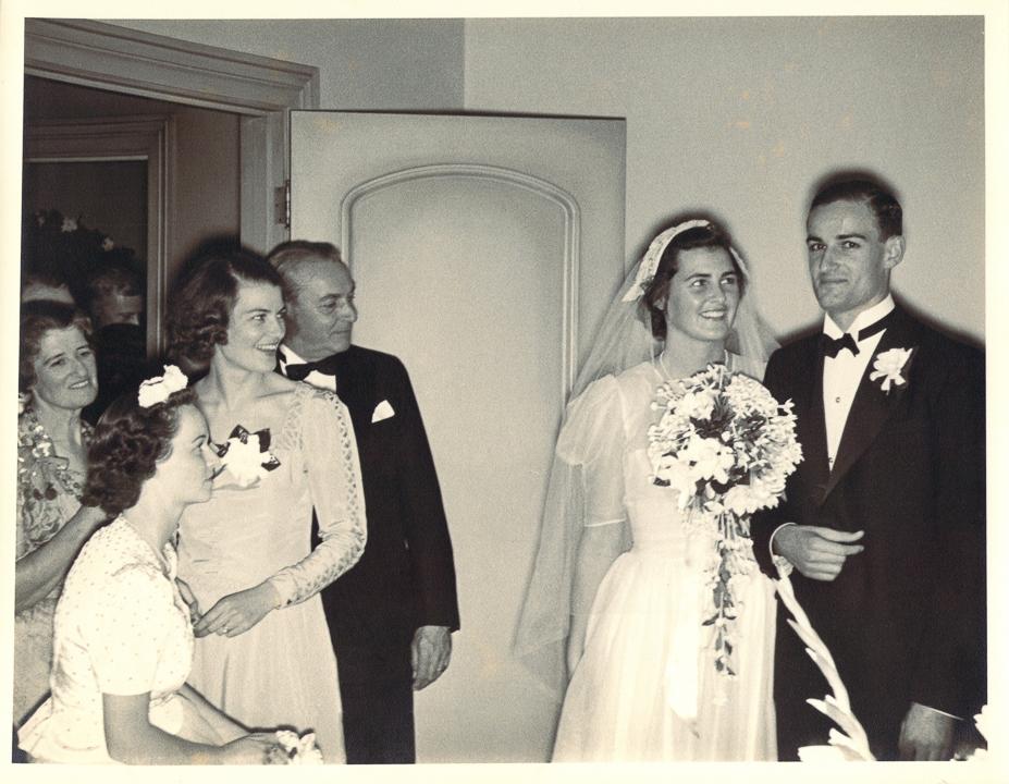Granny Lisa, Tash, Gpa Kirk, Pat & Lal at their wedding