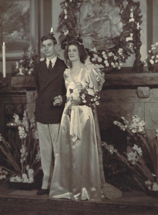 Tash and Ken on their wedding day in San Rafael