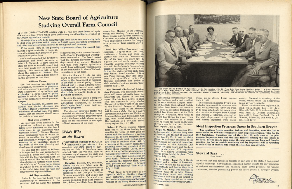New State Board of Agriculture Studying Overall Farm Council - Click image to view PDF...