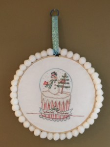 embroidered snowman