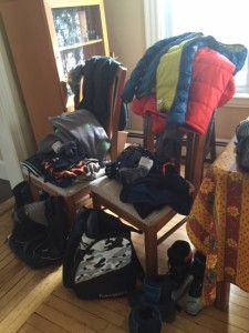 packing ski gear