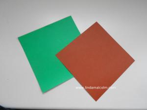 dbl side brown green yoda paper