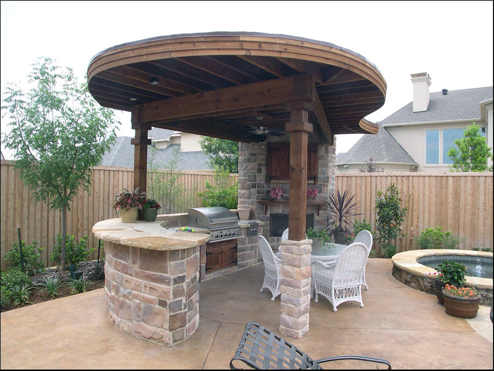 BMR Pool And Patio Covered Outfoor Grill Stone