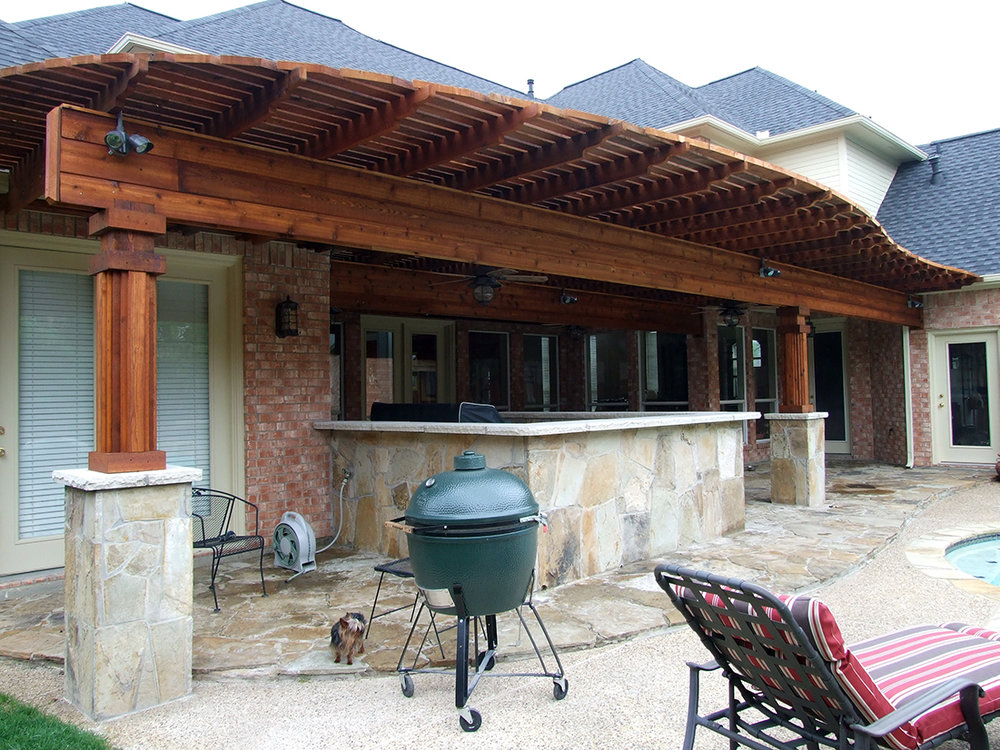 BMR pool and patio arbor green egg.jpg