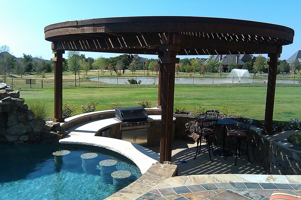 BMR pool and patio covered arbor swim up bar seats.jpg