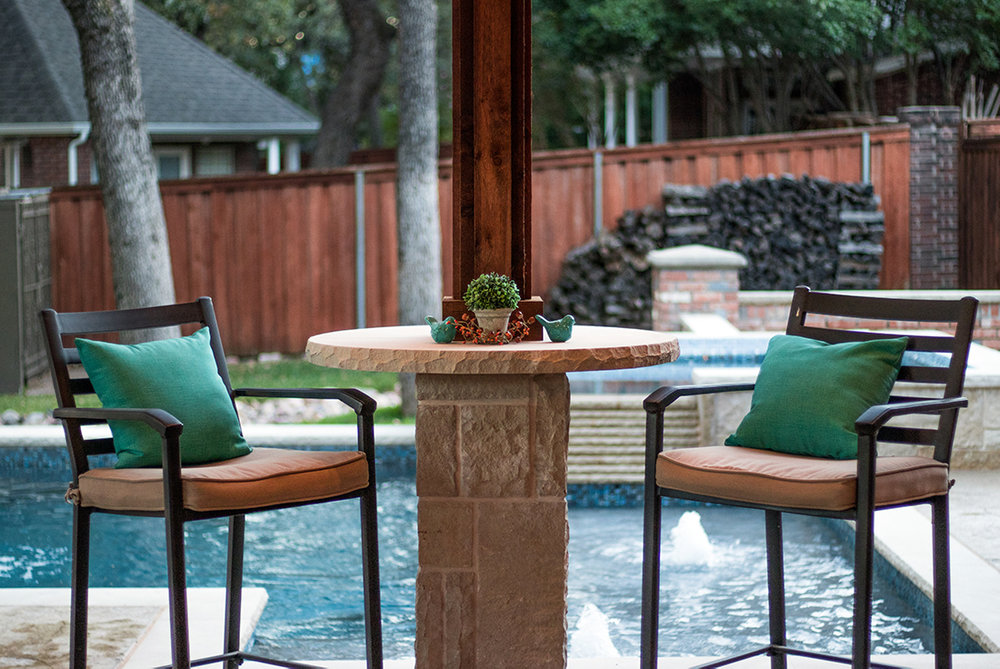 BMR Pool And Patio Seated Table