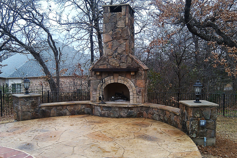 BMR pool and patio fireplace stone.jpg
