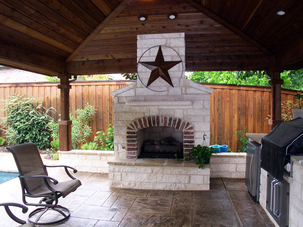 BMR pool and patio white fireplace patio grill.jpg