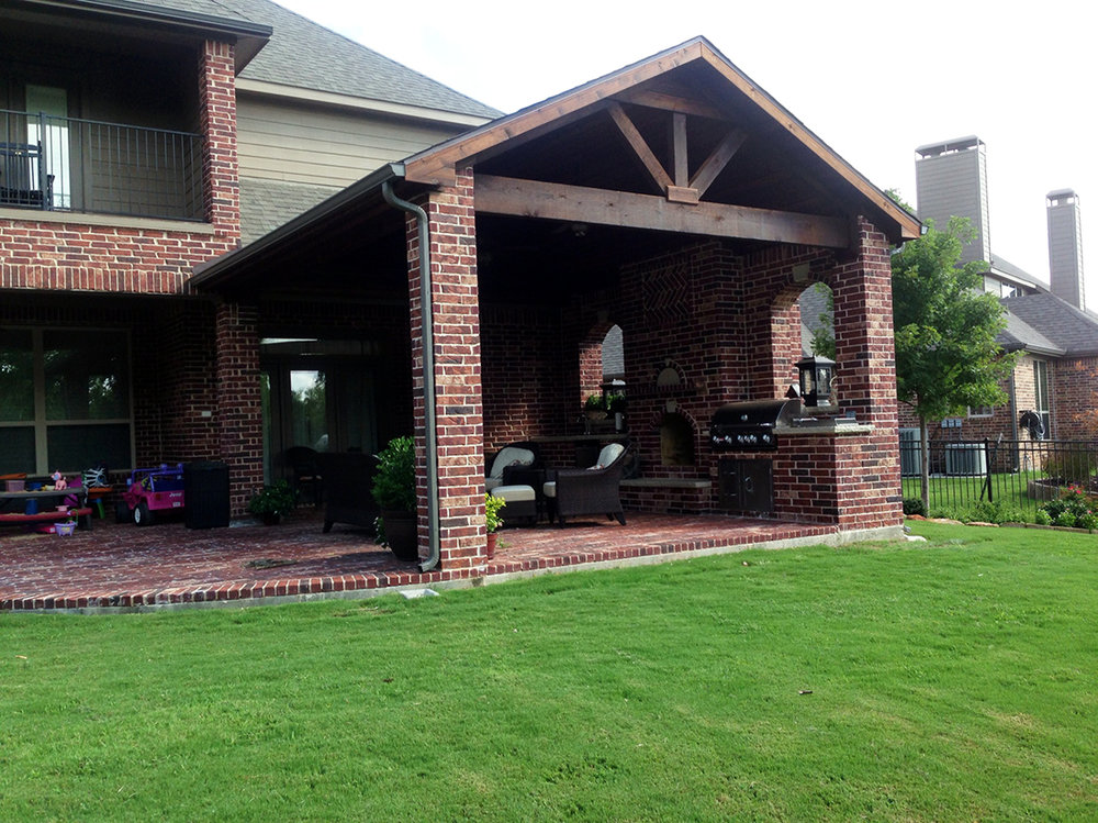 BMR Pool And Patio Covered Patio Brick