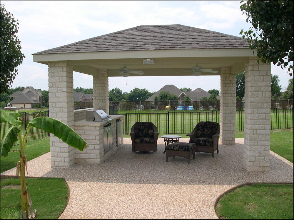 bmr pool and patio white brick coveed bar grill.jpg