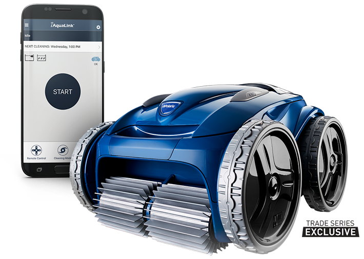 POLARIS 9650iQ SPORT- ROBOTIC WIFI - The 9650iQ Sport is a 4WD robotic cleaner that provides premium cleaning performance with the convenience of iAquaLink™ Control.