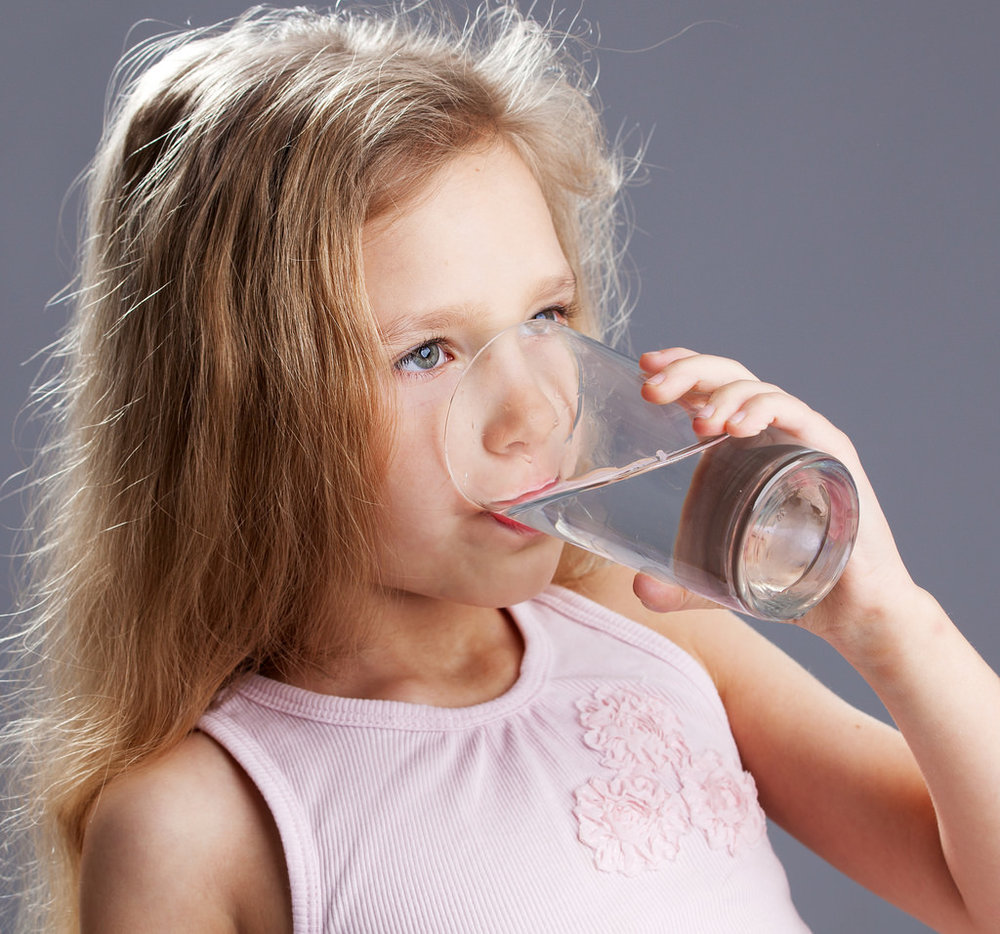 Drink up! Having your child drink fluids should almost always be your first step.
