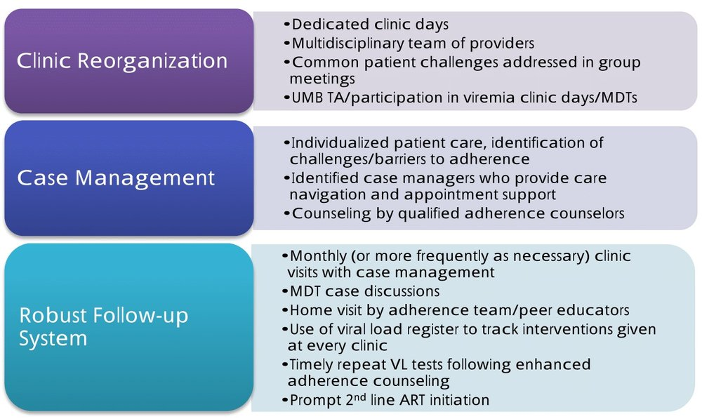 Figure 2: Structure and operationalization of Viremia Clinics