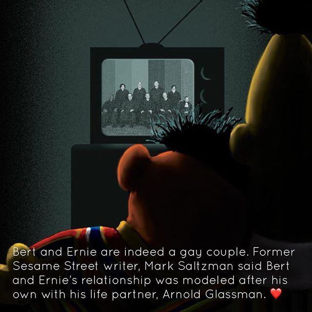 Seeing Bert & Ernie trend on Twitter for this story was a positive highlight in our day. What about you? #LoveisLove . . . . . . . . . . . . #sesamestreet #bertandernie #pride🌈 #loveislove🌈 #lgbtq #lgbtqpride #positivevibes #positivity #positivespinpodcast #apositivespin #podcast #comedy #comedypodcast #comics #comedians #goodnews #goodvibesonly #goodvibes #sarastarkman #katebarron #gooddeeds #staypositive #selflove #toronto #canada #podcasting #podcastlife #podcasters #instagood