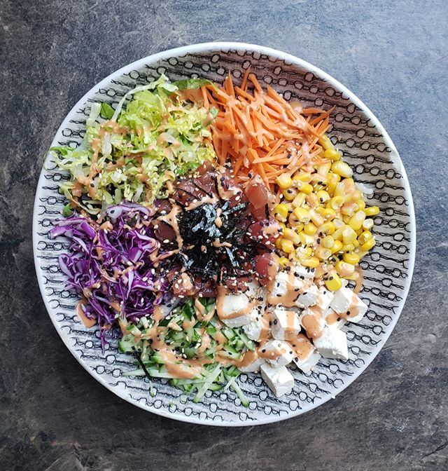 Our Vegan Poke Bowl is almost too pretty to eat!😋😆 . . . #savegyyc #savegcafe #saveg #vegan #calgaryvegan #vegancalgary #yycvegan #veganyyc #yyccafe #beltline #beltliner #heavensfitness #beltlineyyc #yyceats #on11thave #yyc #calgary #downtowncalgary #downtownyyc #yycliving #dailyhiveyyc #photography #yyceats #yycfood #yycnow