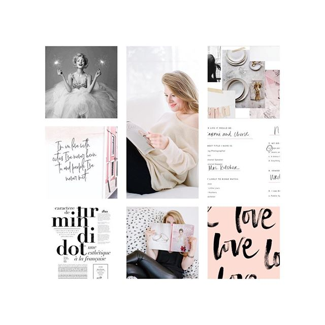Monday moodboard vibes for @sarahkaylove ... (yes, that's her real name) 🤩