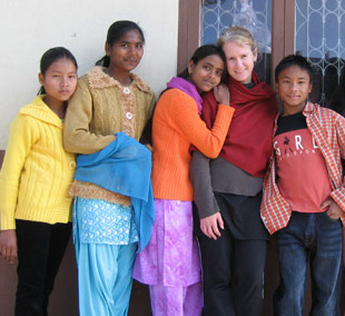 - Founder Toni Thomson in Nepal 2007.