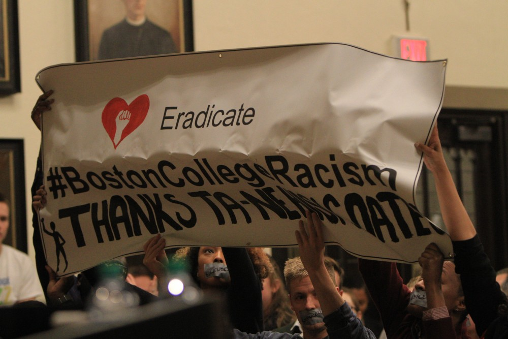 Racist Flyer Boston College Campus -