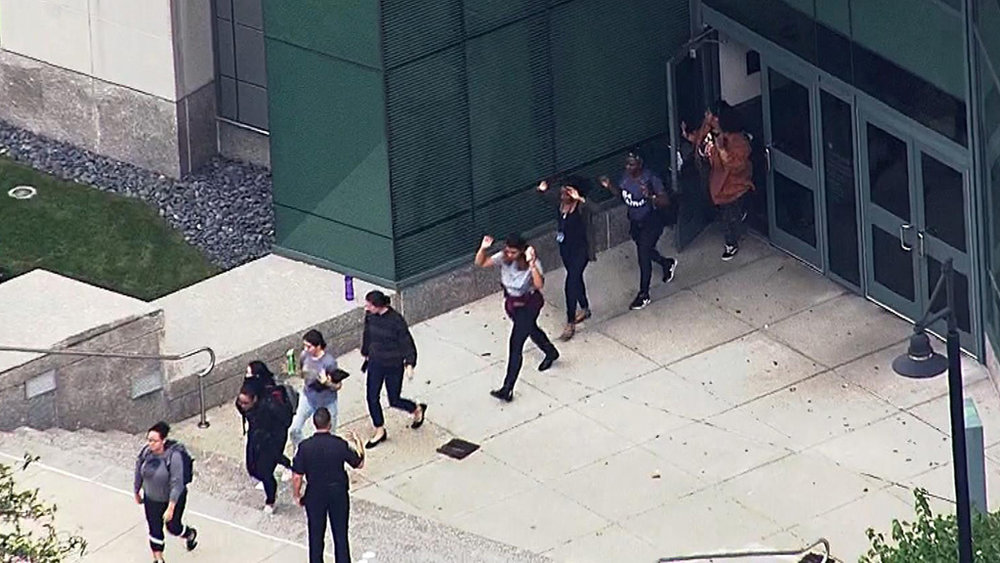 College Shooting Scare at Simmons College, Boston MA -