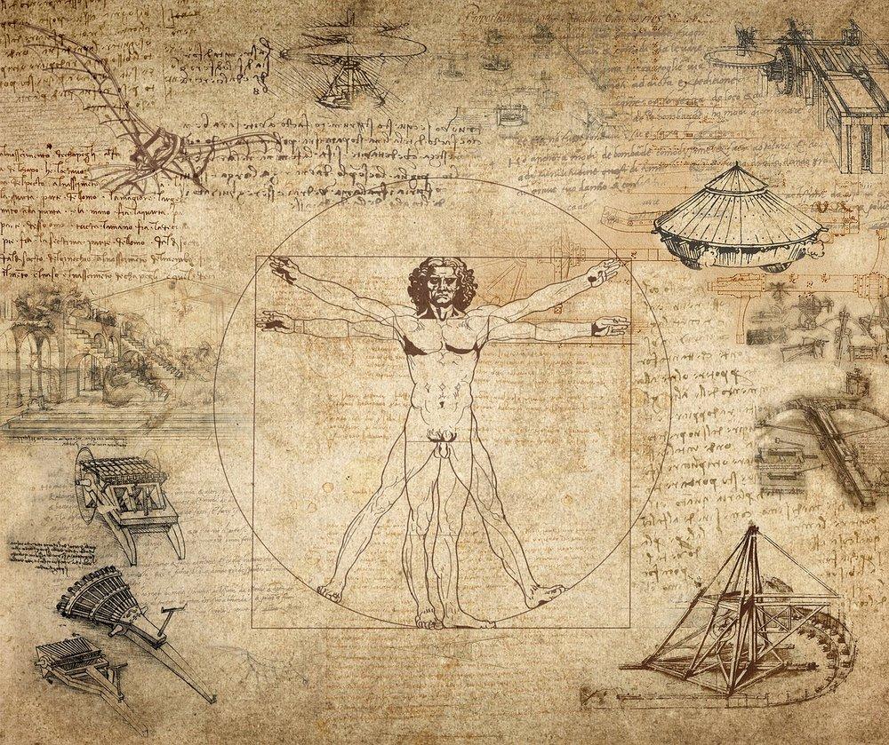 """"""" L'Uomo Vitruviano """" by Leonardo  Da Vinci"""
