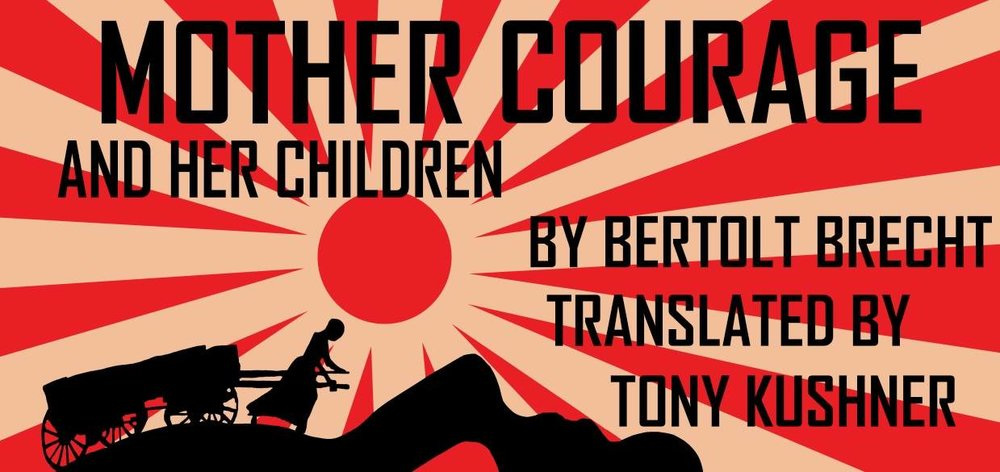 Banner for a production of Mother Courage. http://progresstheatre.co.uk/mother-courage