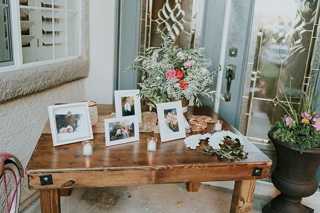 The best way to display sweet pictures at your reception is with our sweetheart table❤️